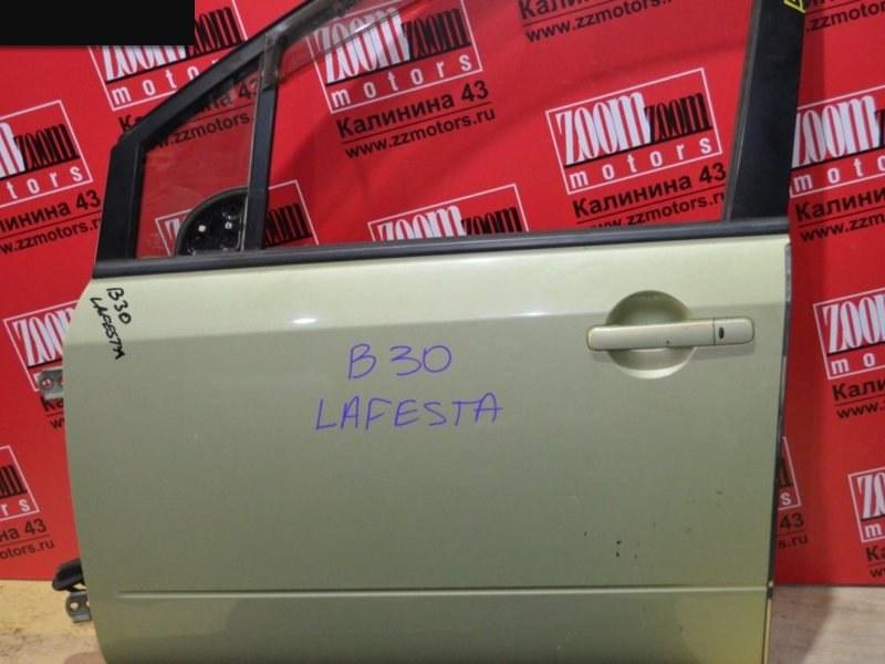Дверь боковая Nissan Lafesta B30 2004 передняя левая желтый