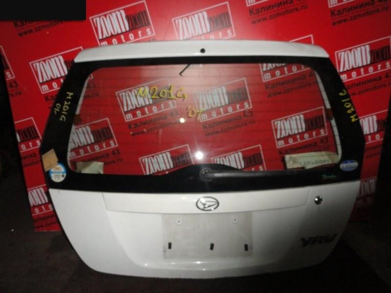 Дверь задняя багажника Daihatsu Yrv M201G 2000 задняя белый