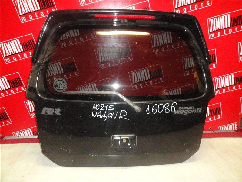 Дверь задняя багажника Suzuki Wagon R MC21S K6A 1998 задняя черный