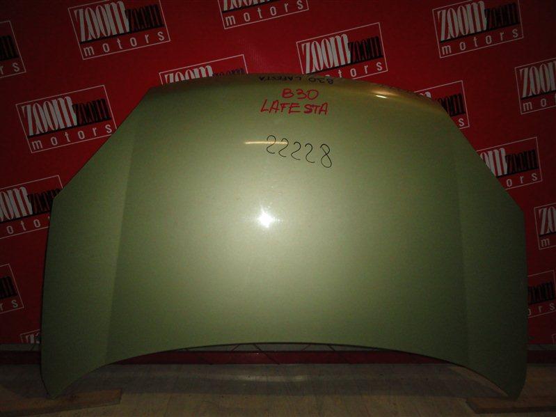 Капот Nissan Lafesta B30 2004 желтый