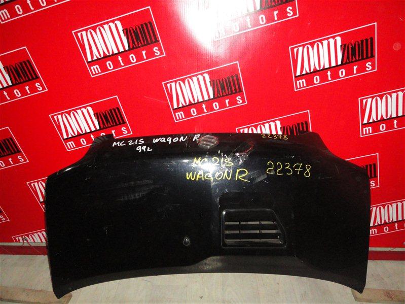 Капот Suzuki Wagon R MC21S K6A 1998 черный
