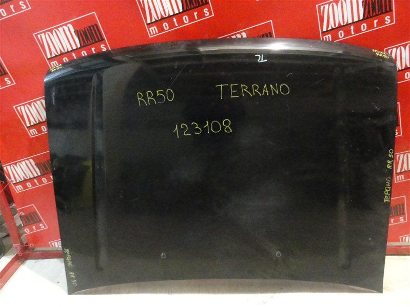 Капот Nissan Terrano RR50 QD32ET 1995 передний черный