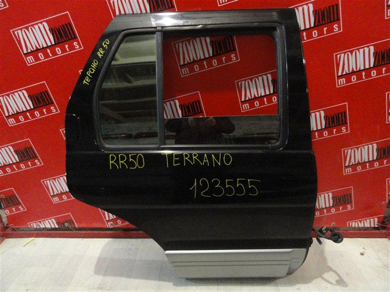 Дверь боковая Nissan Terrano RR50 QD32ET 1995 задняя правая черный