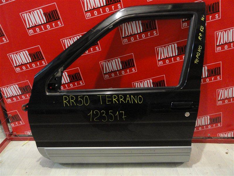 Дверь боковая Nissan Terrano RR50 QD32ET 1995 передняя левая черный
