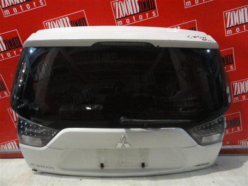 Дверь задняя багажника Mitsubishi Outlander Xl CW5W 4B12 2005 задняя белый перламутр