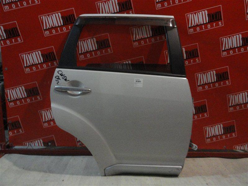 Дверь боковая Mitsubishi Outlander Xl CW5W 4B12 2005 задняя правая белый перламутр