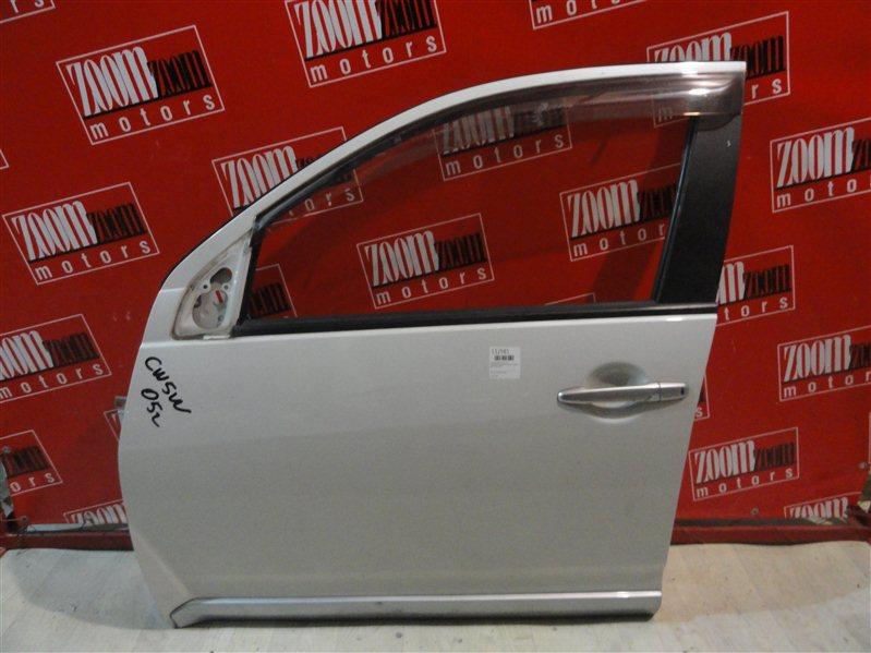 Дверь боковая Mitsubishi Outlander Xl CW5W 4B12 2005 передняя левая белый перламутр