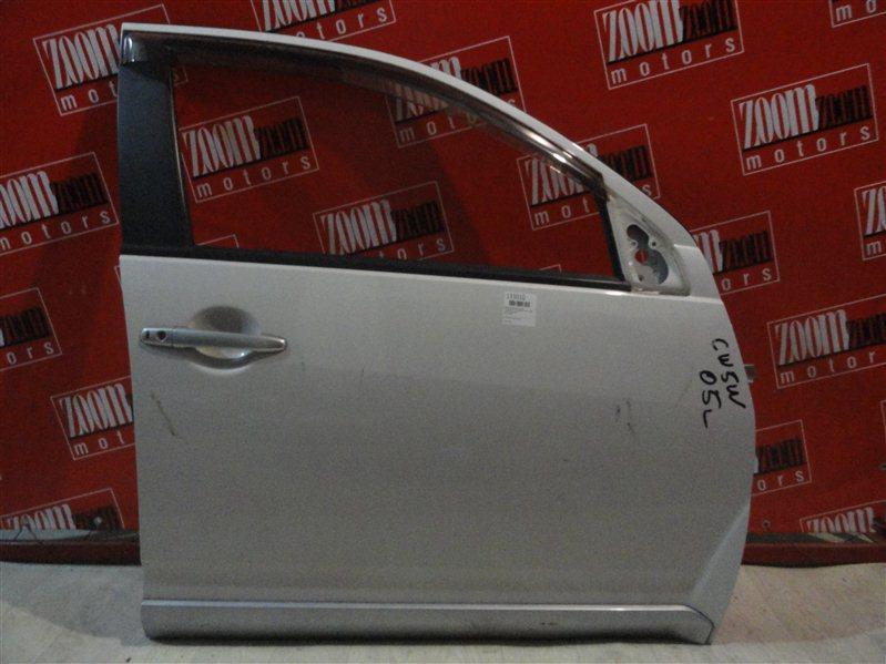 Дверь боковая Mitsubishi Outlander Xl CW5W 4B12 2005 передняя правая белый перламутр