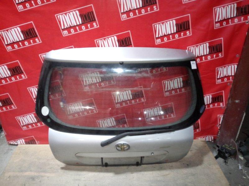 Дверь задняя багажника Toyota Corolla Runx NZE121 1NZ-FE 2001 задняя серебро