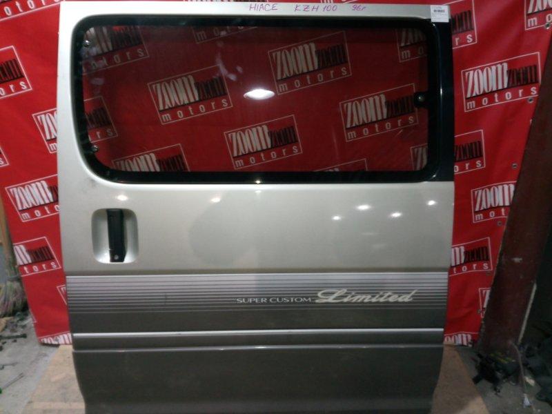 Дверь боковая Toyota Hiace KZH100 1KZ-TE 1996 задняя левая серебро