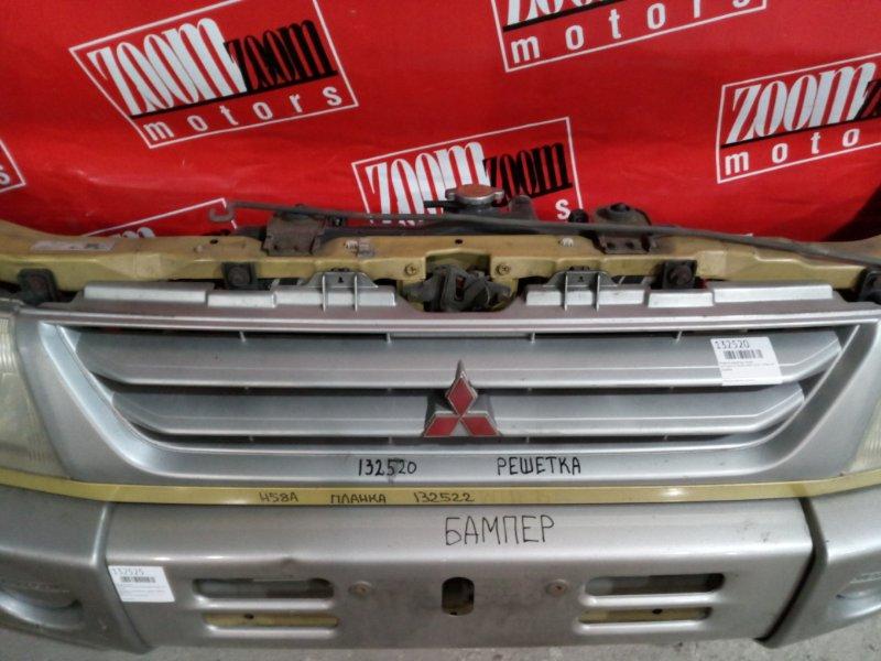 Решетка радиатора Mitsubishi Pajero Mini H58A 4A30-T 1998 серебро