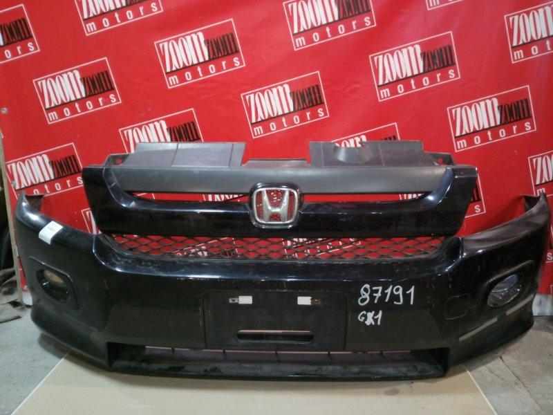 Бампер Honda Mobilio Spike GK1 L15A 2005 передний черный