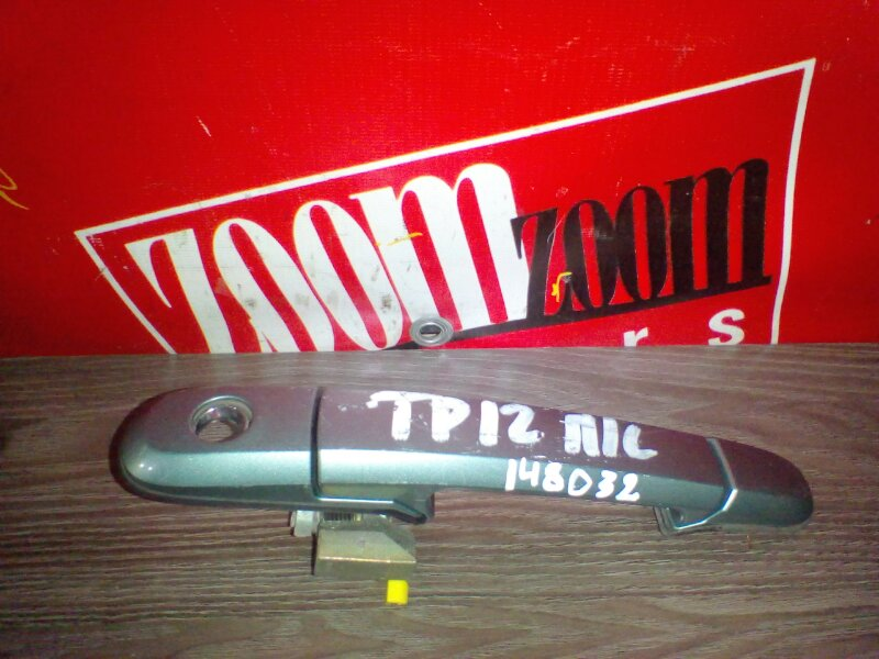 Ручка наружная Nissan Primera TP12 QR20DE 2001 передняя левая серый