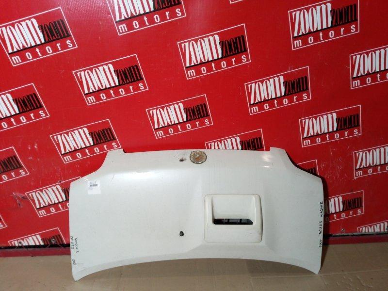 Капот Suzuki Wagon R MC22S 2001 передний белый перламутр