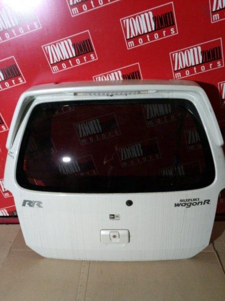 Дверь задняя багажника Suzuki Wagon R MC22S 2001 задняя белый перламутр