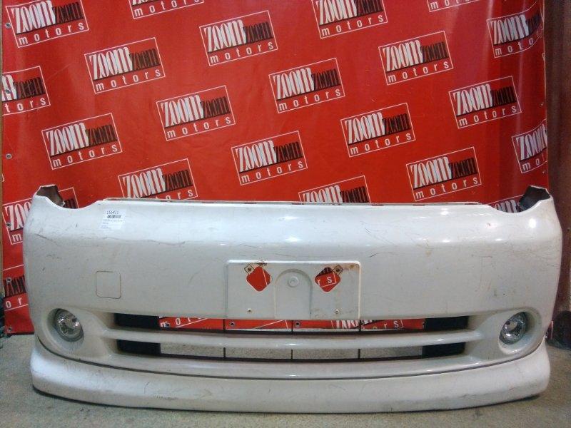 Бампер Toyota Sienta NCP81 1NZ-FE 2003 передний белый