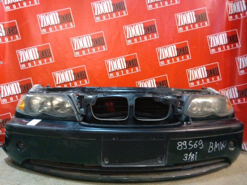 Nose cut Bmw 318 E46 N42 B20 A 2001 передний зеленый