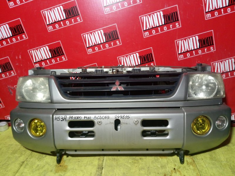 Nose cut Mitsubishi Pajero Mini H53A 1999 передний серебро