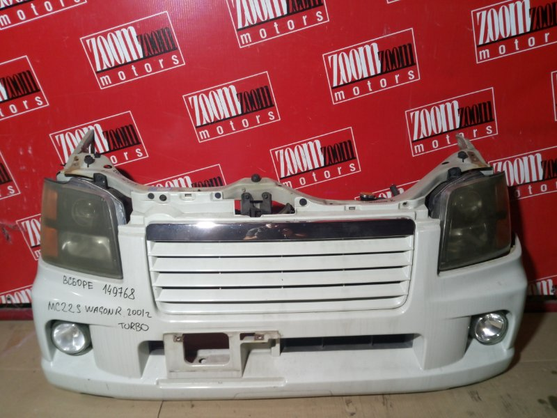 Nose cut Suzuki Wagon R MC22S K6A-T 2001 передний белый