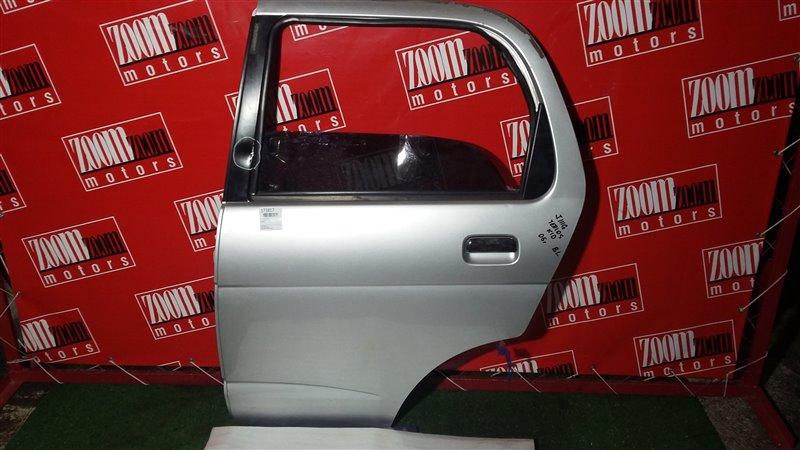 Дверь боковая Daihatsu Terios Kid J111G 2005 задняя левая серебро
