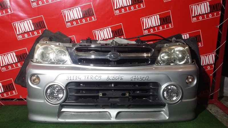Nose cut Daihatsu Terios Kid J111G EF-DEM 2005 передний серебро