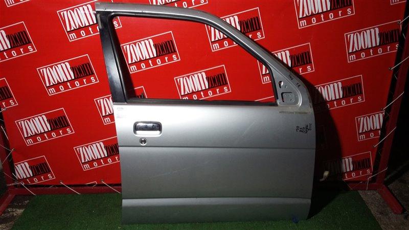 Дверь боковая Daihatsu Terios Kid J111G 2005 передняя правая серебро