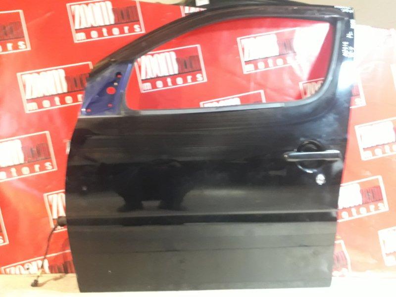 Дверь боковая Daihatsu Yrv M201G K3-VE 2000 передняя левая черный