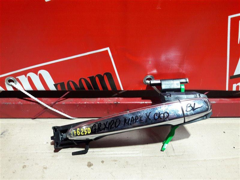 Ручка наружная Toyota Mark X GRX120 4GR-FSE 2004 задняя левая хром