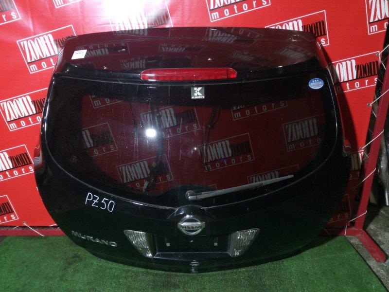 Дверь задняя багажника Nissan Murano PZ50 VQ35DE 2004 задняя черный