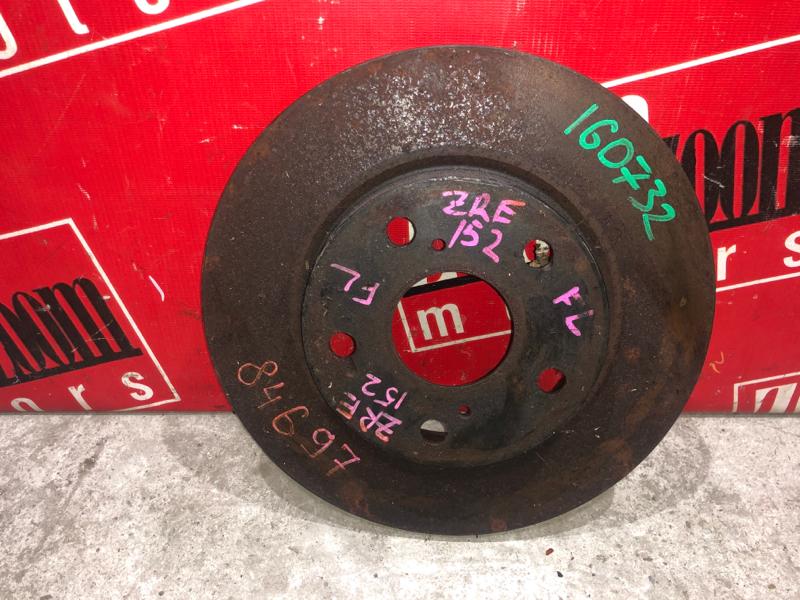 Диск тормозной Toyota Auris ZRE152 2ZR-FAE 2006 передний