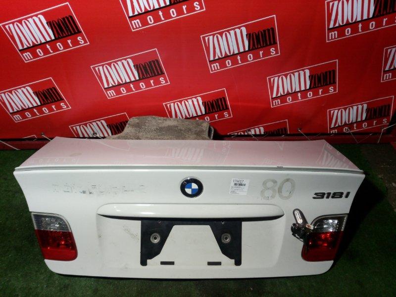 Крышка багажника Bmw 318I E46 M52 B20 2001 задняя белый