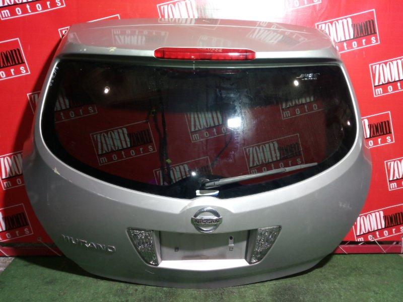 Дверь задняя багажника Nissan Murano PNZ50 VQ35(DE) задняя серебро