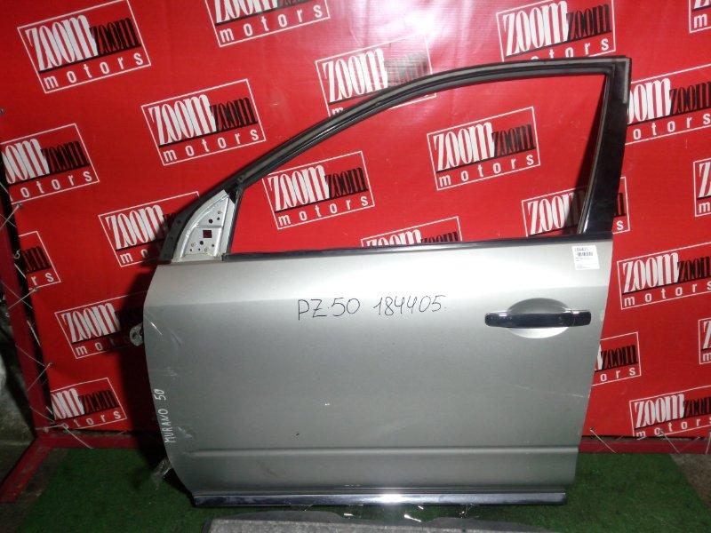 Дверь боковая Nissan Murano PNZ50 VQ35(DE) передняя левая серебро