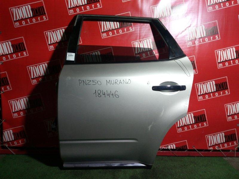 Дверь боковая Nissan Murano PNZ50 VQ35(DE) задняя левая серебро