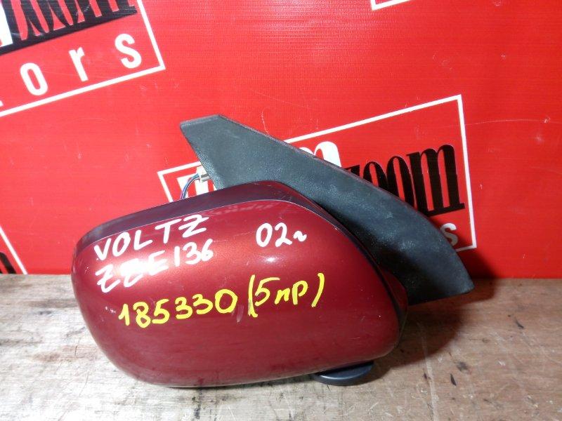 Зеркало боковое Toyota Voltz ZZE136 1ZZ-FE переднее правое красный