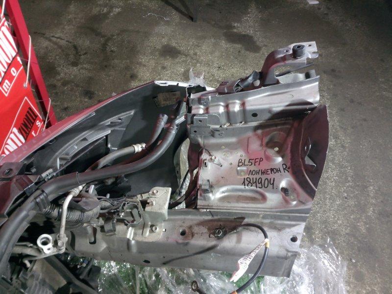 Лонжерон Mazda Axela BL5FP ZY-VE 2009 передний правый серебро
