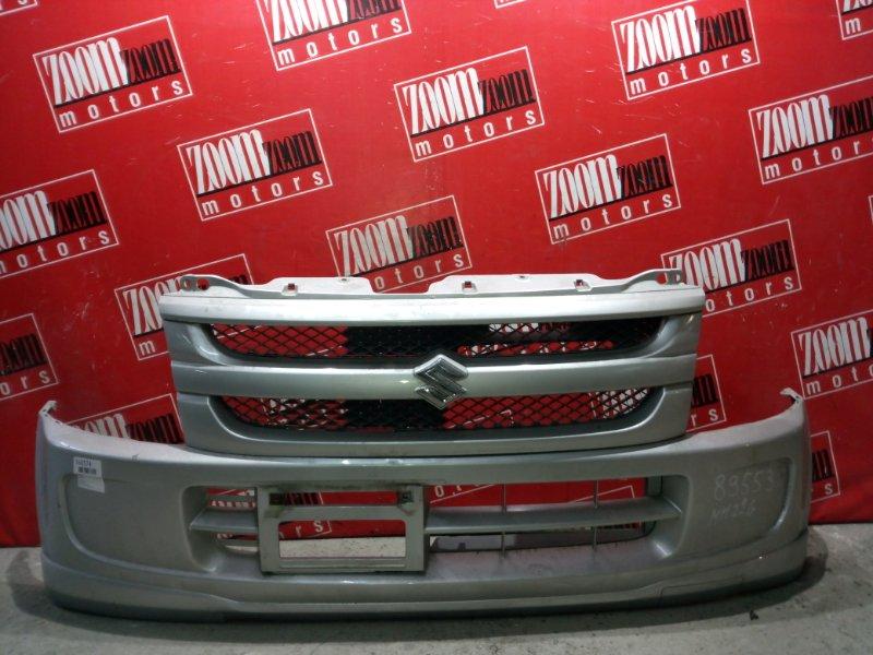 Бампер Suzuki Wagon R MH22S K6A 2005 передний серебро