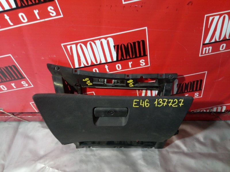 Бардачок Bmw 325I E46 M52 B20 1998 передний черный