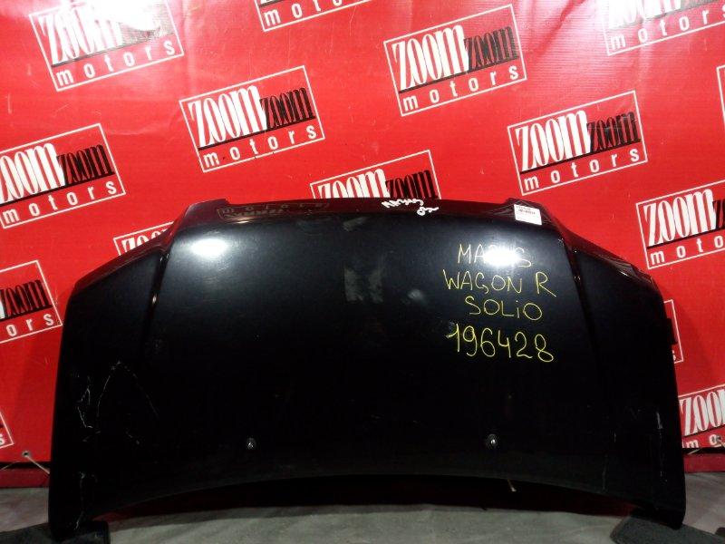 Капот Suzuki Wagon R Solio MA34S K6A 2000 передний черный