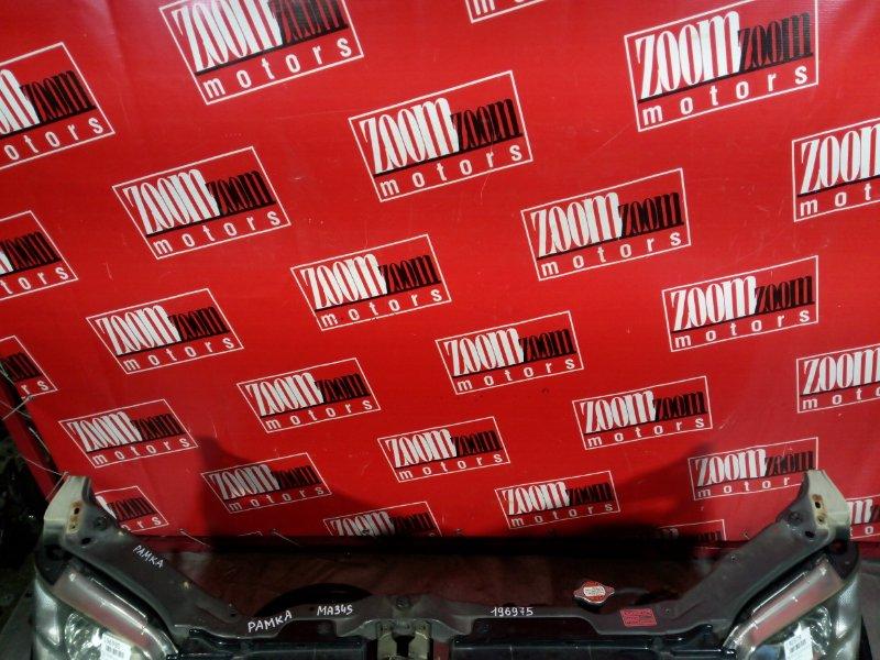 Рамка радиатора Suzuki Wagon R Solio MA34S M13A 2000 передняя черный