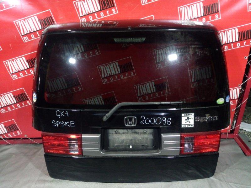 Дверь задняя багажника Honda Mobilio Spike GK1 L13A 2005 задняя черный
