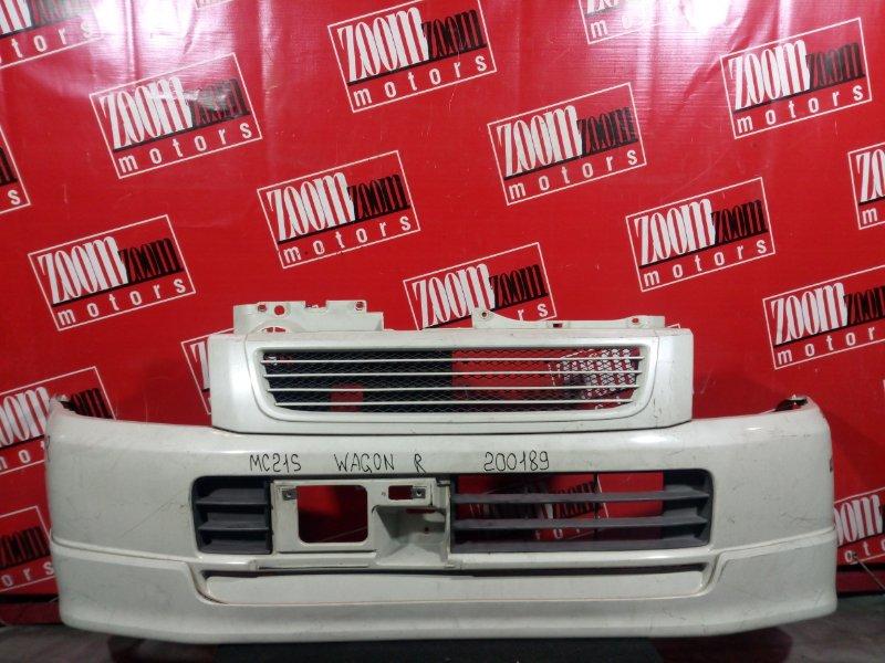 Бампер Suzuki Wagon R MC21S M13A 2002 передний белый перламутр