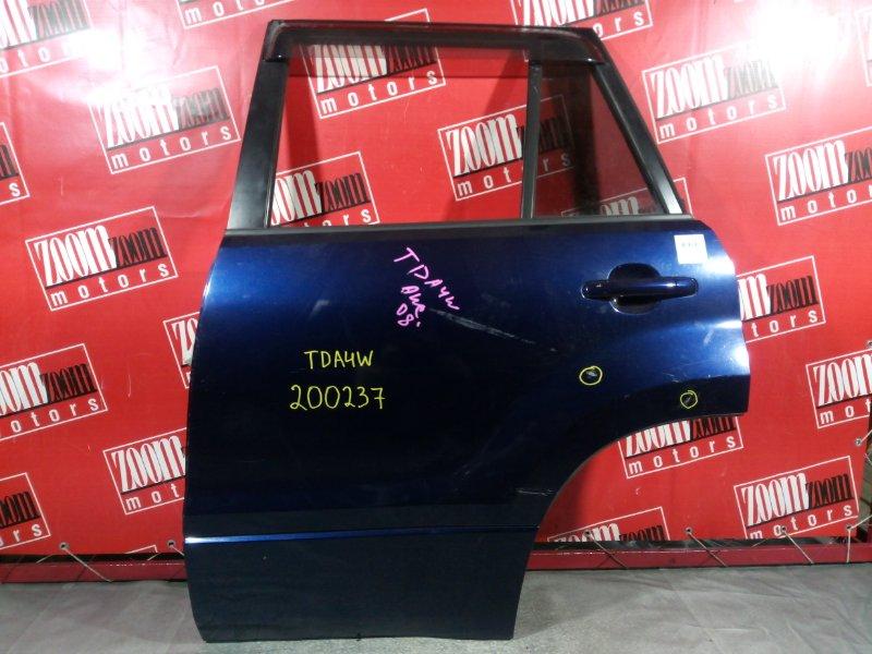 Дверь боковая Suzuki Escudo TDA4W 2008 задняя левая синий
