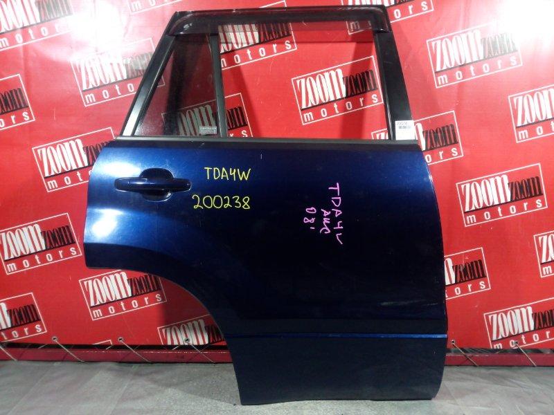 Дверь боковая Suzuki Escudo TDA4W 2008 задняя правая синий