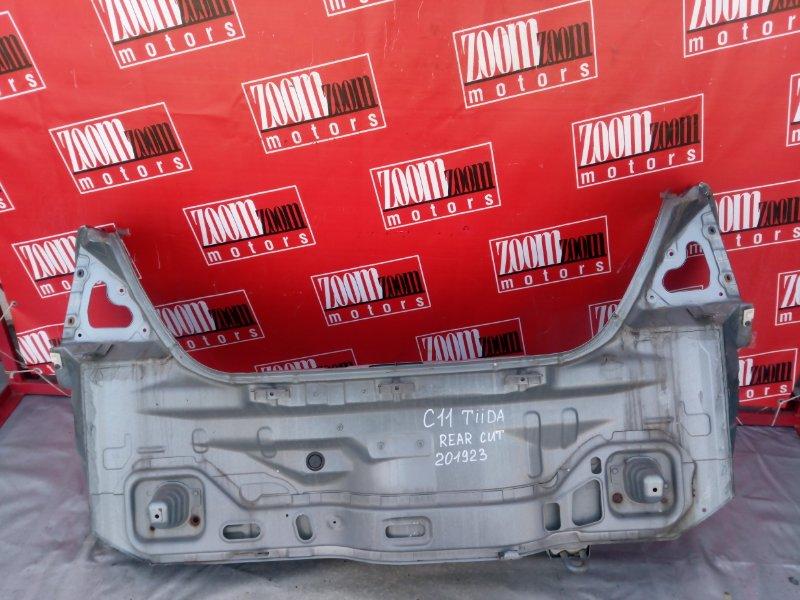 Rear cut Nissan Tiida C11 HR15DE 2004 задний серо-голубой