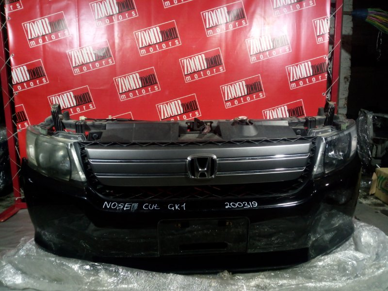Nose cut Honda Mobilio Spike GK1 L15A 2006 передний черный