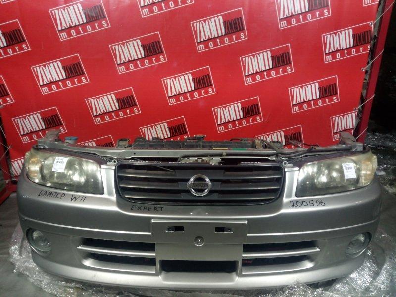 Бампер Nissan Expert W11 YD22DD передний серебро