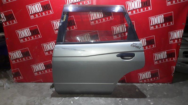 Дверь боковая Nissan Expert PW11 QG18DE 1999 задняя левая серебро