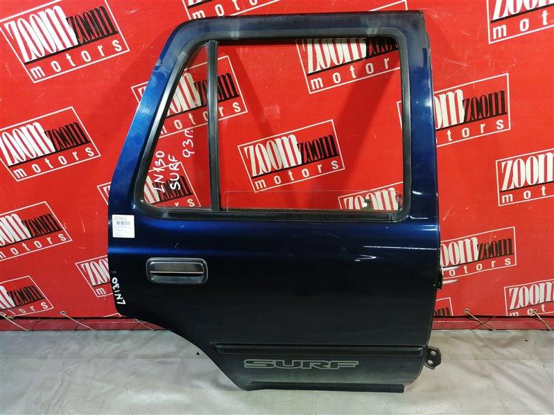 Дверь боковая Toyota Hilux Surf LN130 2L-TE 1991 задняя правая сине-серый
