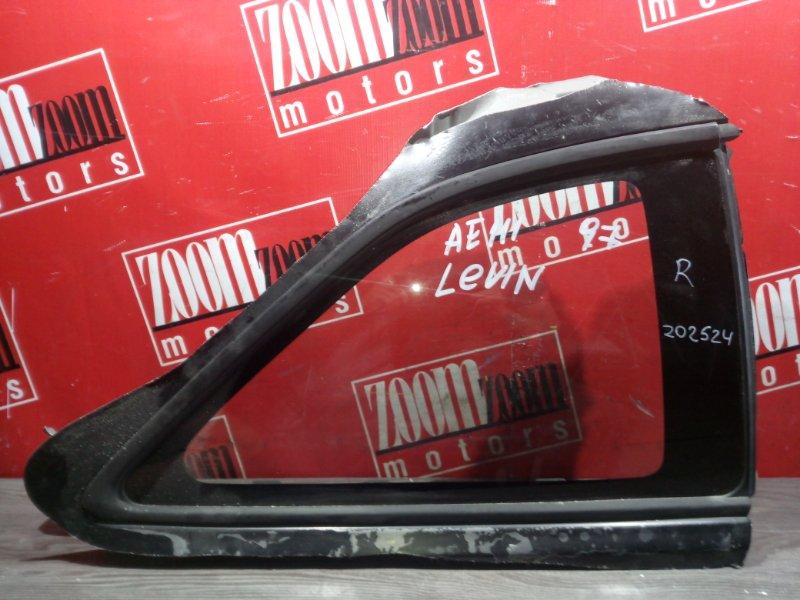 Стекло собачника Toyota Corolla Levin AE111 4A-FE 1995 заднее правое